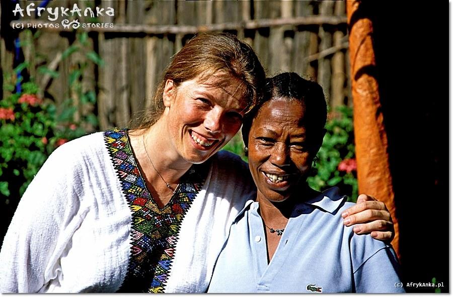 Dlaczego Afryka? Jadąc do Etiopii nie miałam pojęcia jak wspaniałych ludzi tu spotkam. Ja i Sophie z Lalibeli.