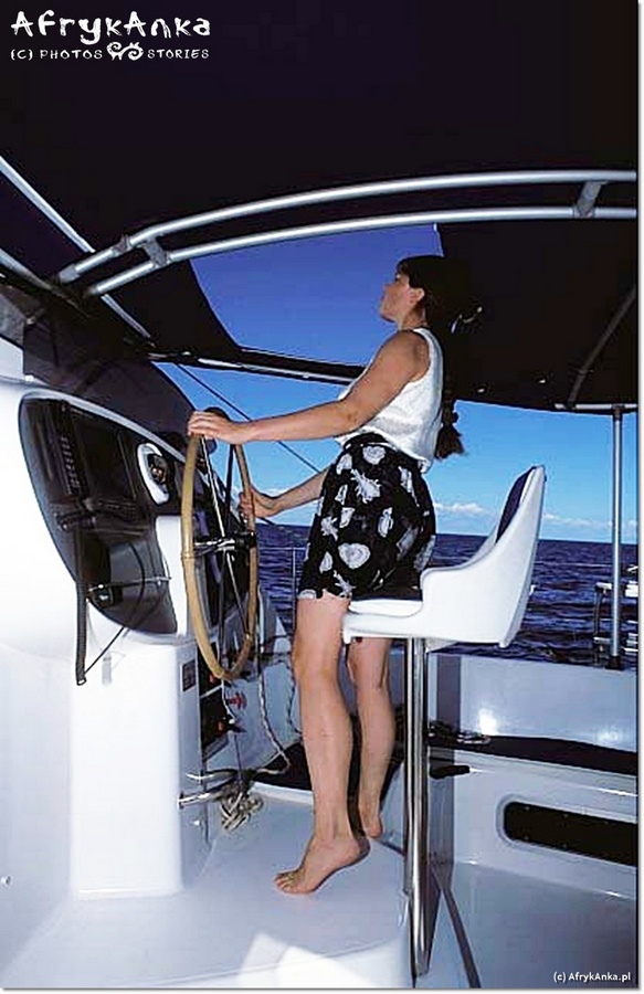 Wachty - mój ulubiony czas na łodzi. Praca na katamaranie była świetną lekcją życia.