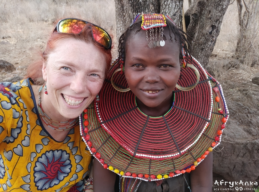 Z pięknością ludu Pokot - północna Kenia.