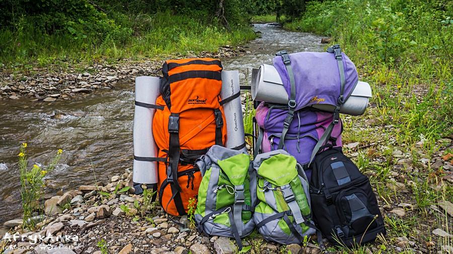 Nasze plecaki: każdy miał coś do niesienia!