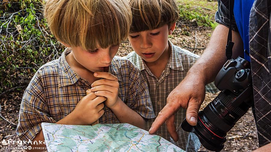 Męska przygoda - uczymy się czytać mapy!