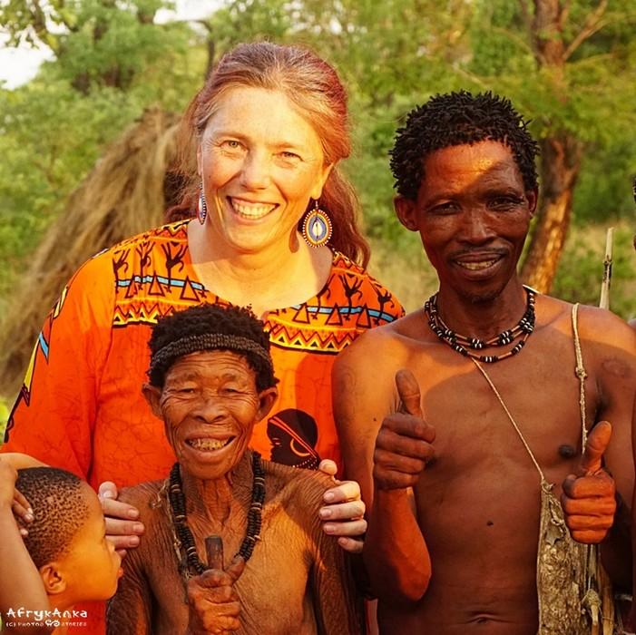 Z bliskimi mi ludźmi w Afryce.