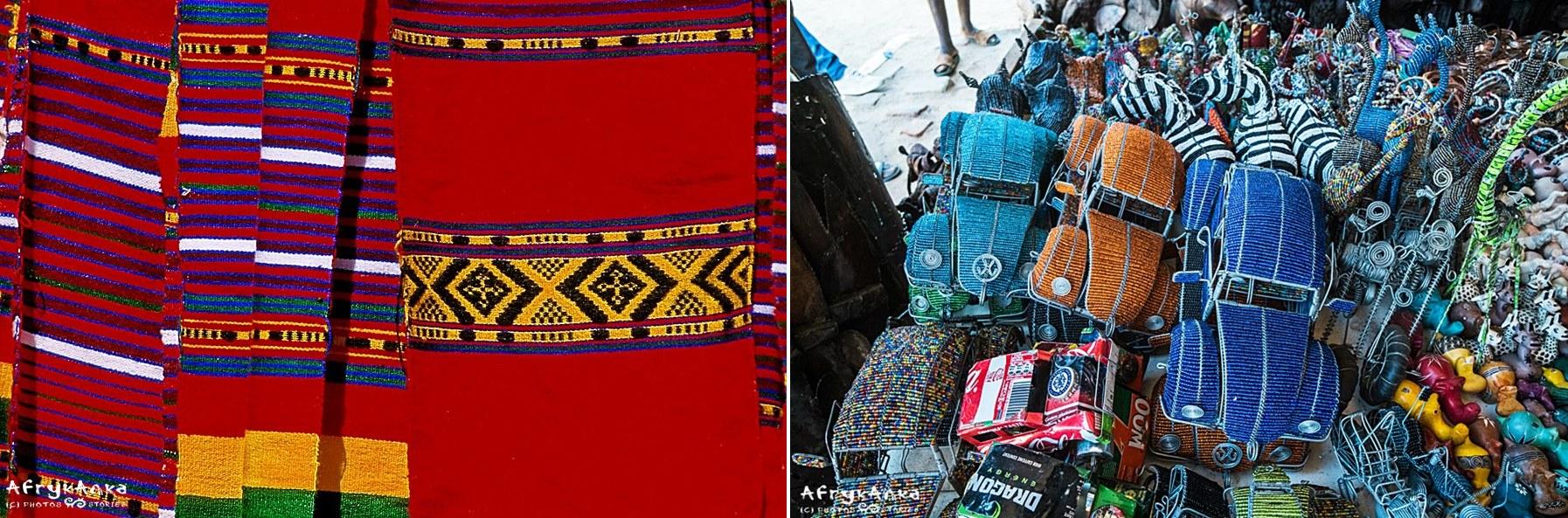 Etiopskie tkaniny i pamiątki z koralików i drutu. Made in Africa!