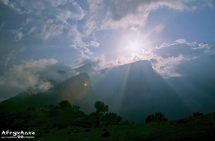 Góry Siemen w całym swym majestacie.