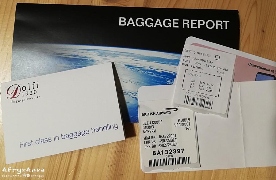Koniecznie zachowaj nalepki z nadaniem bagażu!
