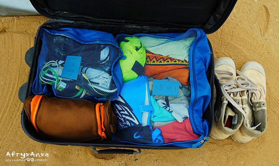 Do ogarnięcia rzeczy w walizce przydaje się organizer.