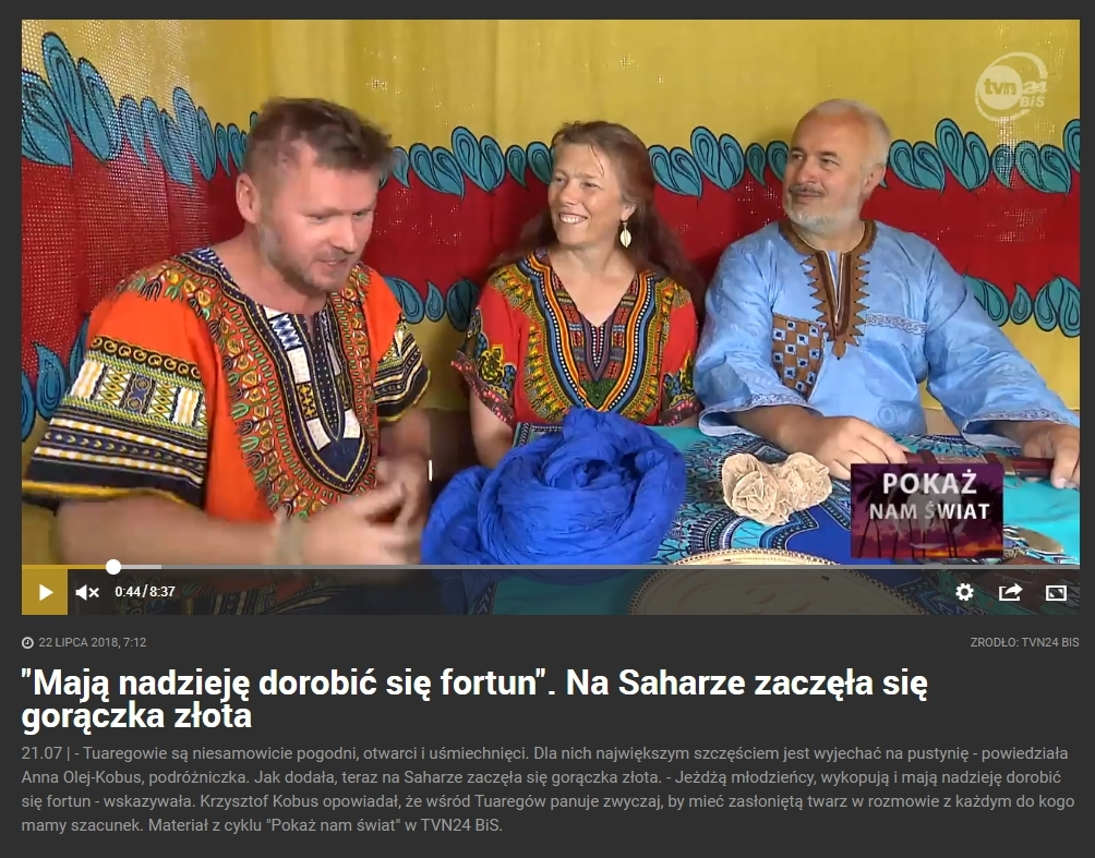"""""""Pokaż nam świat"""" - Kuba jako (prawie) Tuareg!"""