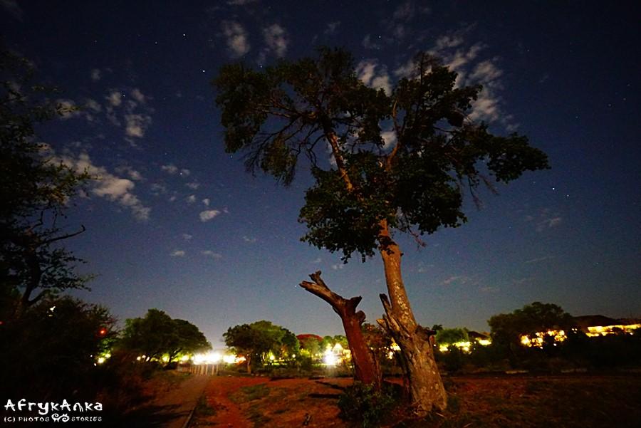 Victoria Falls city by night.