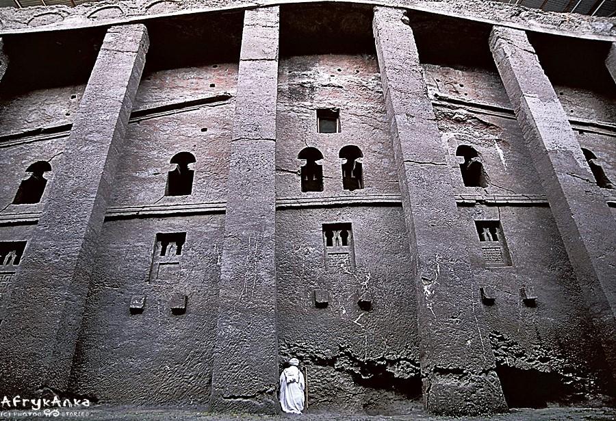 Lalibela - monolityczny kościół.