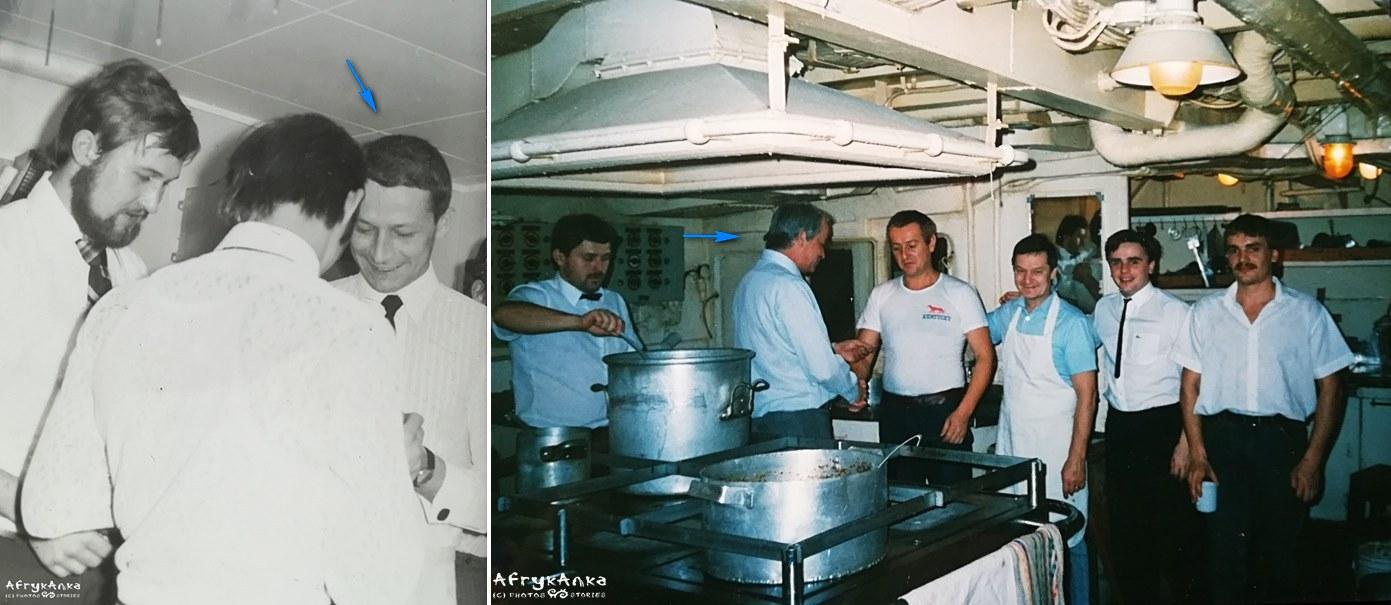 Wigilia na statku. Mój tata jako młodszy marynarz i jako kapitan.