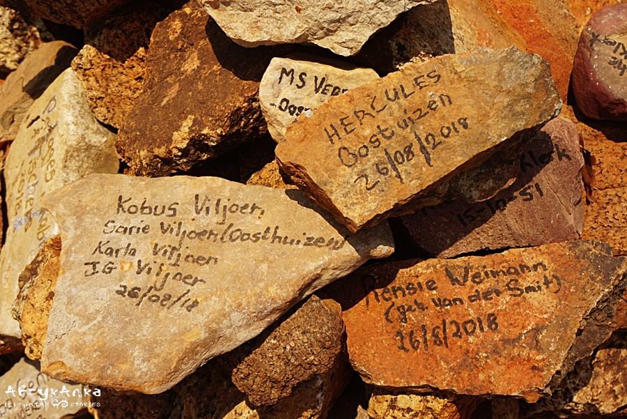Pomnik Dorsland Trek w Namibii.