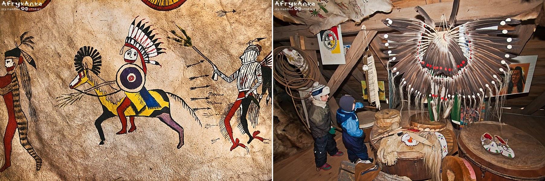 Świat Indian i Eskimosów w muzeum.