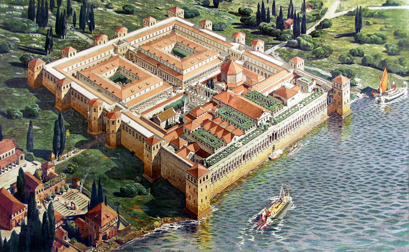 Split - rekonstrukcja pałacu (źródło: Wikipedia)