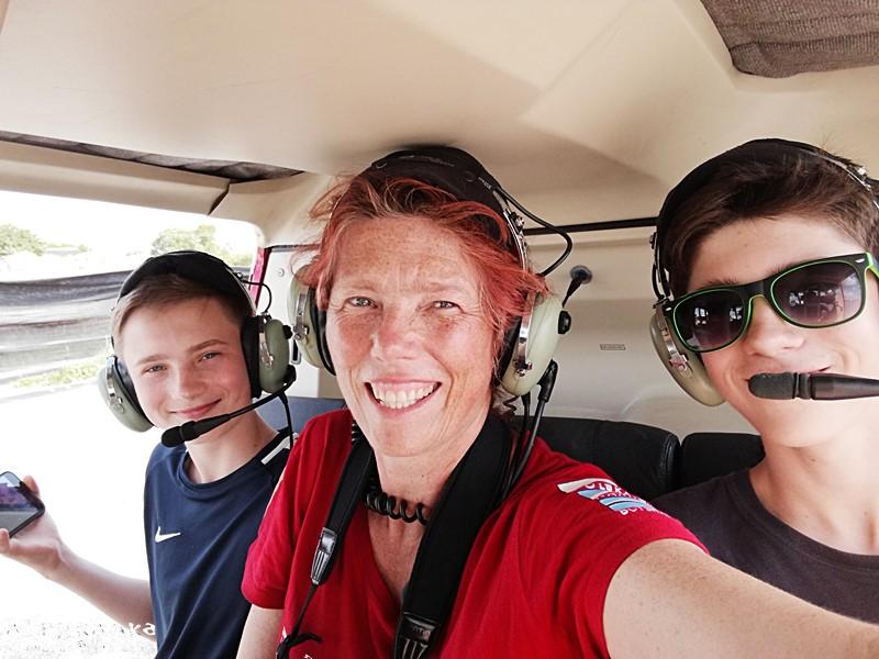 Ostatnie selfie - zaraz czeka nas lot nad Okavango!