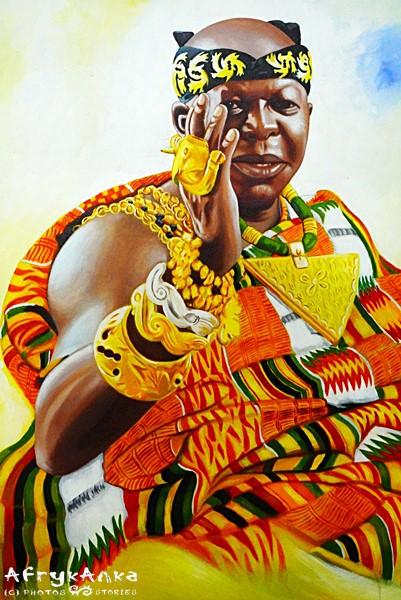 Król w kente.
