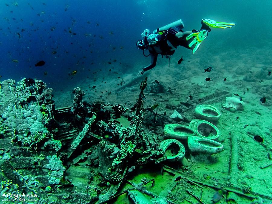 """Pod wodą czekają przedziwne """"skarby""""."""