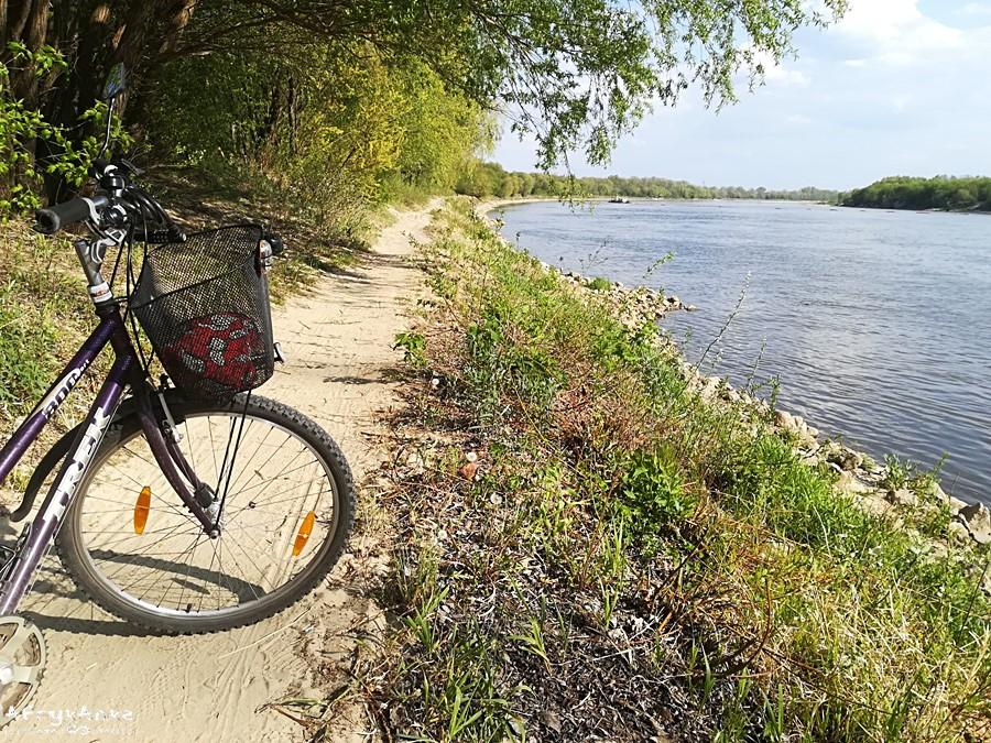 Ścieżka nad Wisłą: lepiej jechać tu rowerem terenowym.
