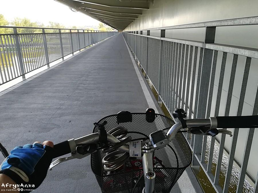 Kładka rowerowa na Trasie Ł.