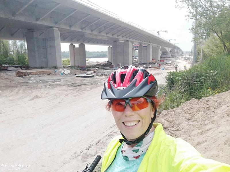 Most Południowy w budowie.