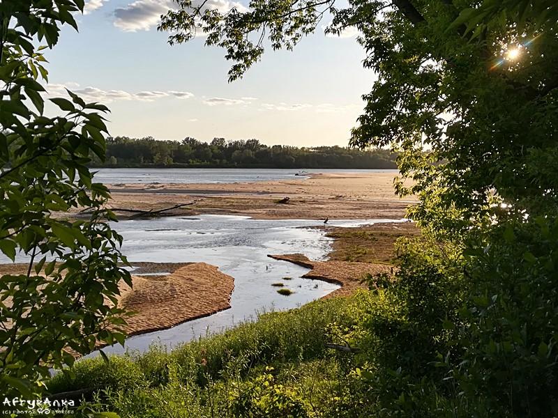 Wyspy Zawadowskie - panorama rzeki.