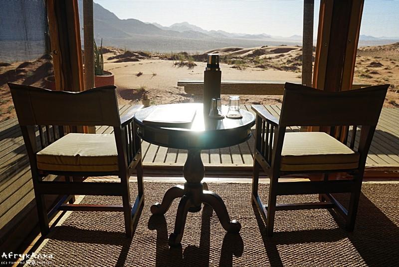 Widok z pokoju - czyli namiotu typu safari.