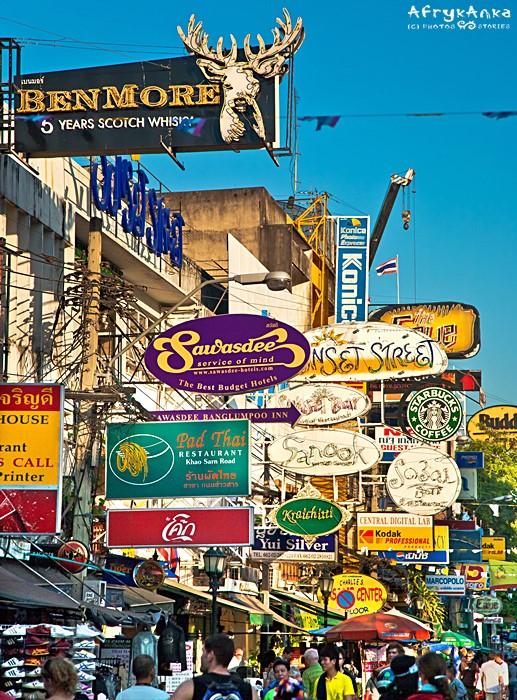 Khao San w Bangkoku - ta ulica ciszy nie zaznała od lat.