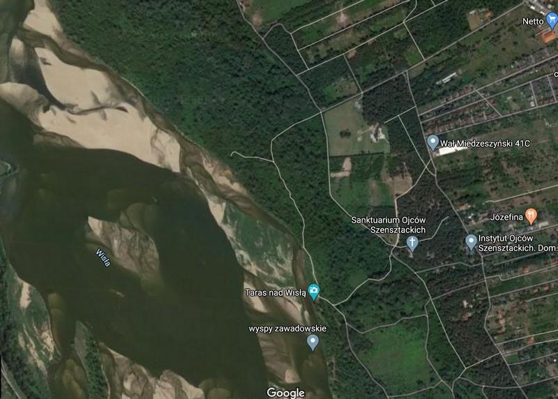 Wyspy Zawadowskie na GoogleMaps.