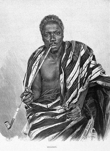 Béhanzin, ostatni król niepodległego Dahomeju.