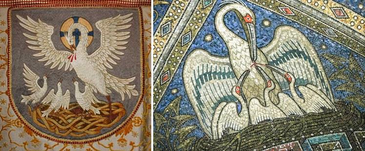 Ofiarny pelikan - częsty motyw sakralnej sztuki.