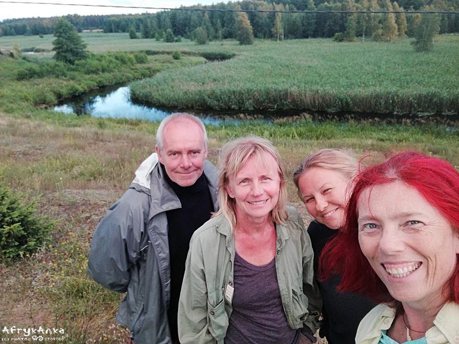 Nasza ekipa: Sławek, Basia, Łucja i ja.