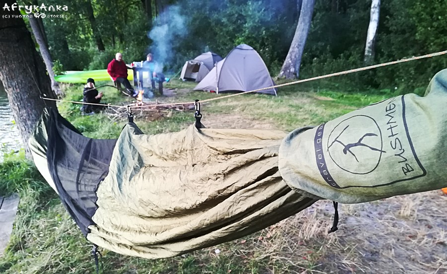 Mój namiot gotów do spania :D