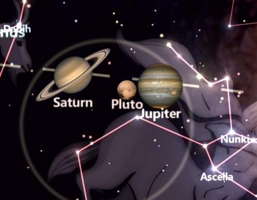 Planety w aplikacji StarTracker.