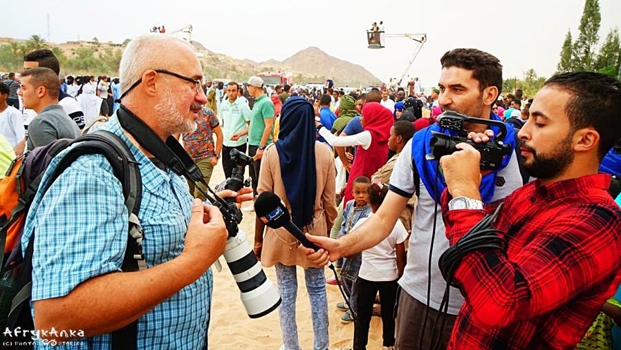 Krzysztof udziela wywiadu algierskiej telewizji!