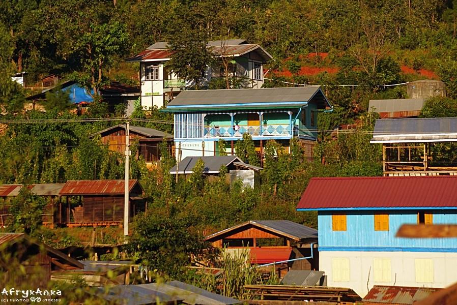 Wioska w Birmie.