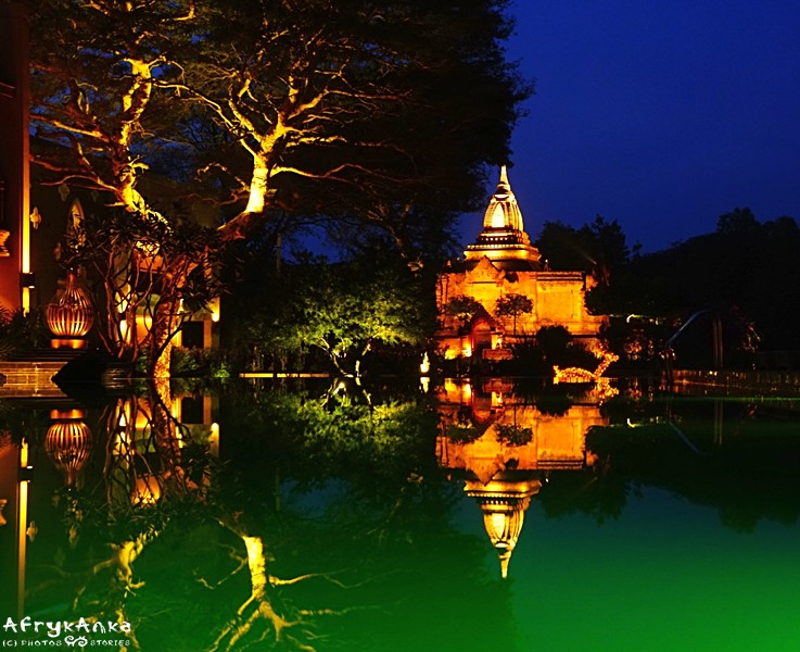 Pagoda na terenie hotelu.