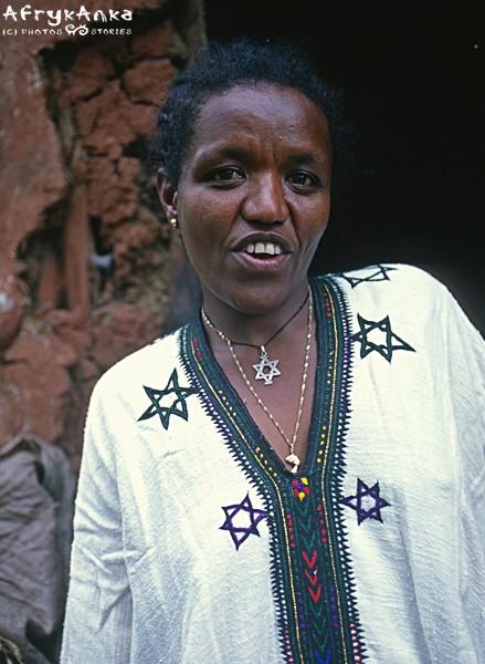 Felaszka w wiosce koło Gonderu.