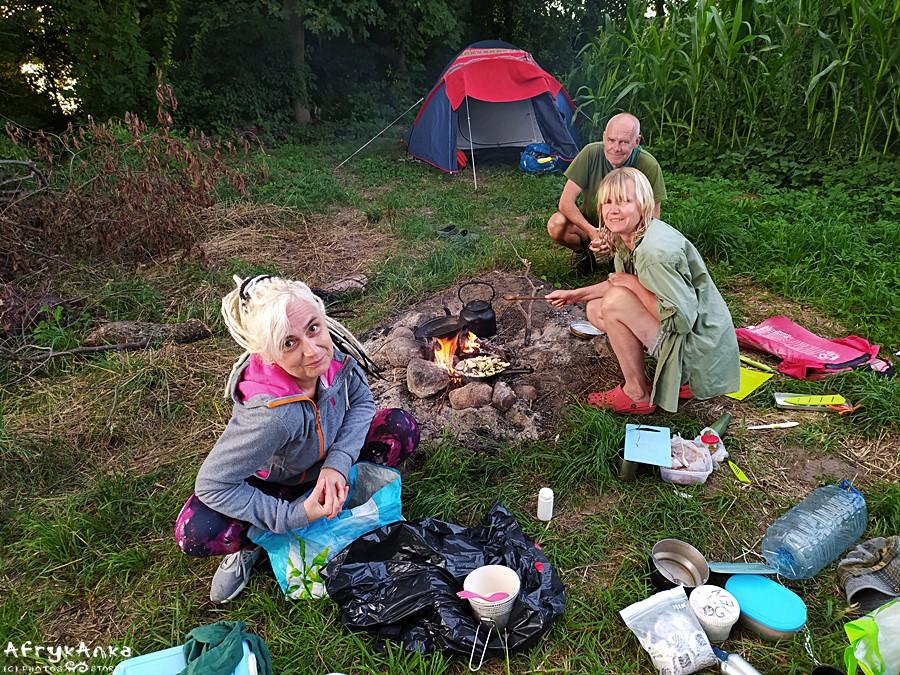 Nasz obóz o poranku.
