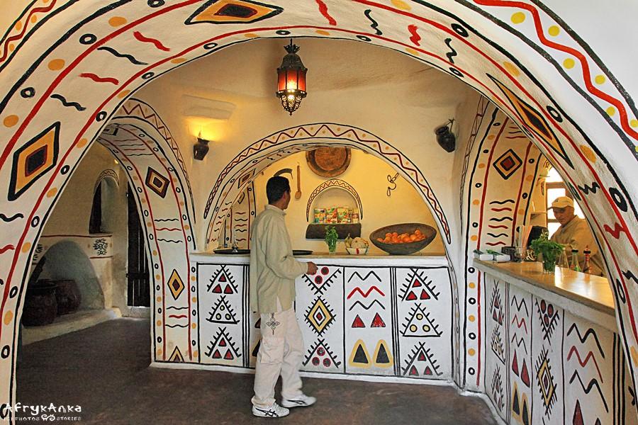 Ksar Debbab - stylowe wnętrze.
