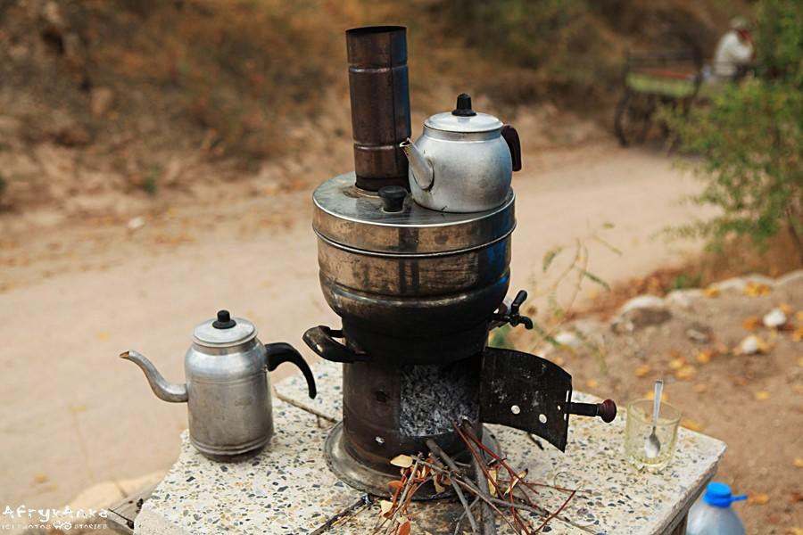 Gotowanie herbaty w Kapadocji - wariant tradycyjny.