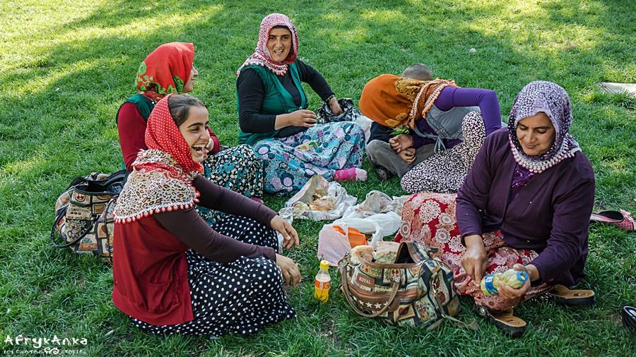 Kobiety na pikniku.
