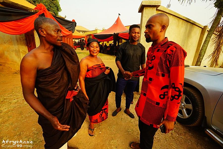 Pogrzeb w Ghanie.