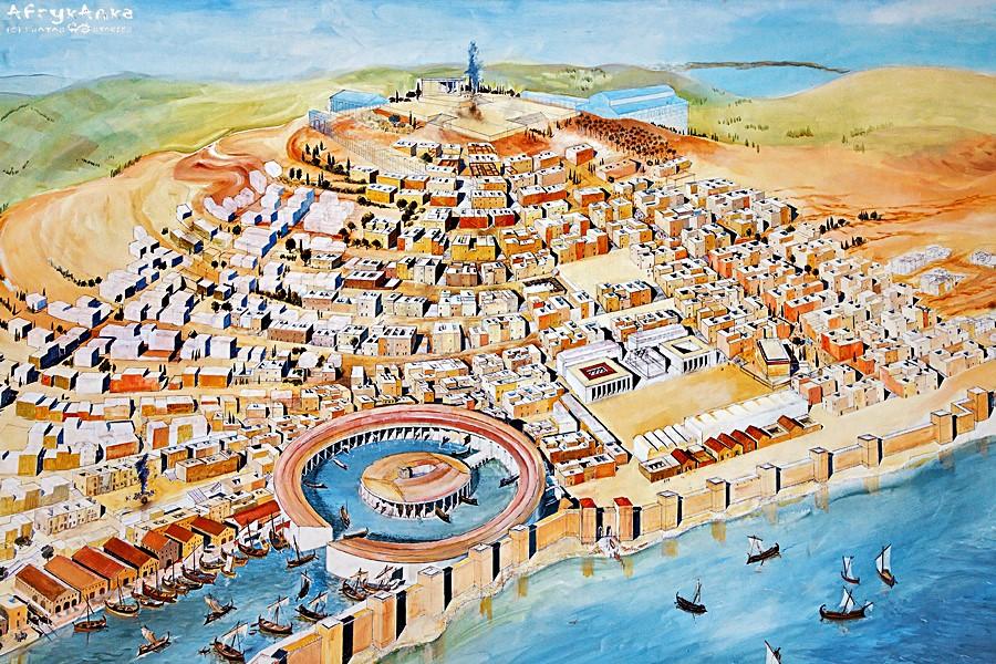 Kartagina - miasto w czasach świetności.