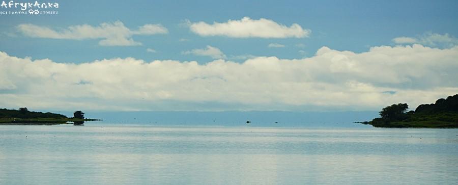 Kanał Kazinga - ujście do jeziora Edwarda.