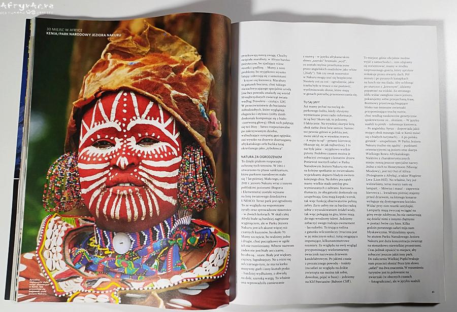 Kenia - dla wielu kwintesencja Afryki, ale to tylko jedno z 30 miejsc opisanych w magazynie.