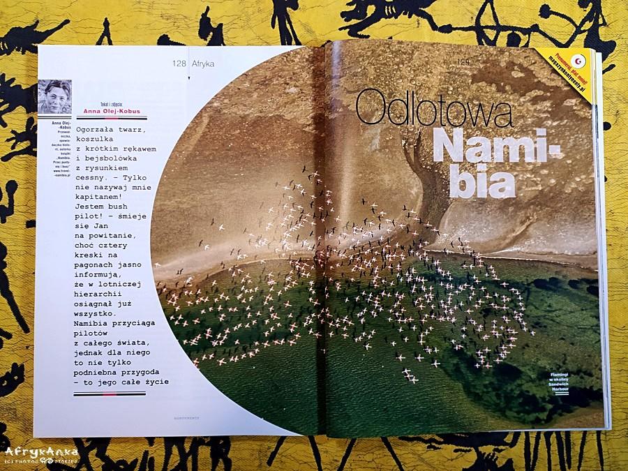 Magazyn Kontynenty i mój reportaż z Namibii.