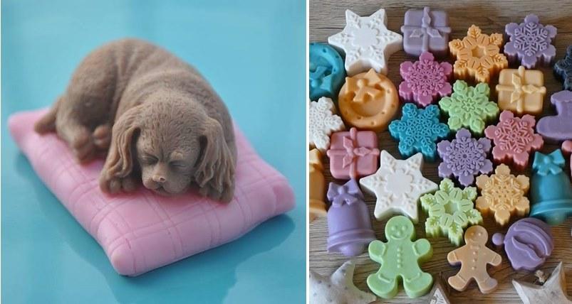 Piękne prezenty: mydełka od Fundacji i świąteczne od Izy
