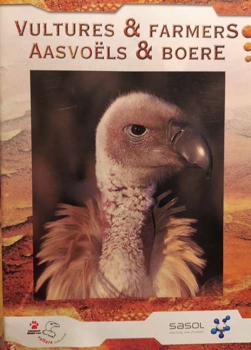 Folder dla afrykańskich farmerów o sępach.