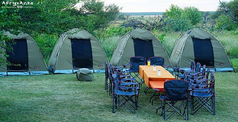 Nasz obóz w Namutoni (zdjęcie z pory deszczowej)
