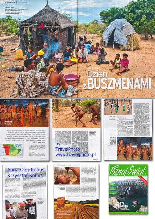 Dzień z Buszmenami dla magazynu Poznaj Świat.