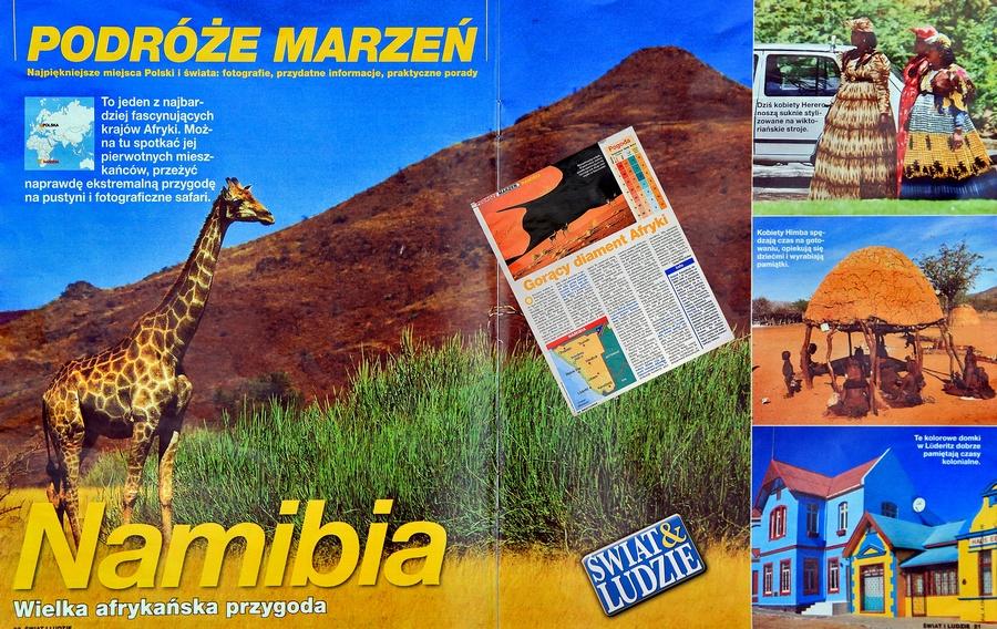 Publikacje prasowe - często piszę o Namibii.